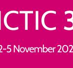 ICTIC 3 Logo: white font on magenta background